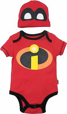 The Incredibles Baby (Disney Pixar The Incredibles Baby Costume Bodysuit and Hat)