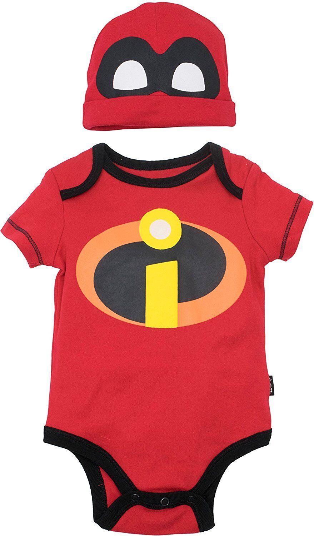 Disney Pixar The Incredibles Baby Costume Bodysuit and Hat R