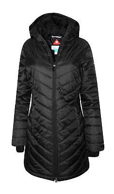- New Womens Columbia Morning Light Omni Heat Hood Long Winter Jacket Coat Black M