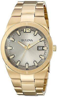 Bulova Men's 97B137 Gray Dial Gold Tone Stainless Steel Watch