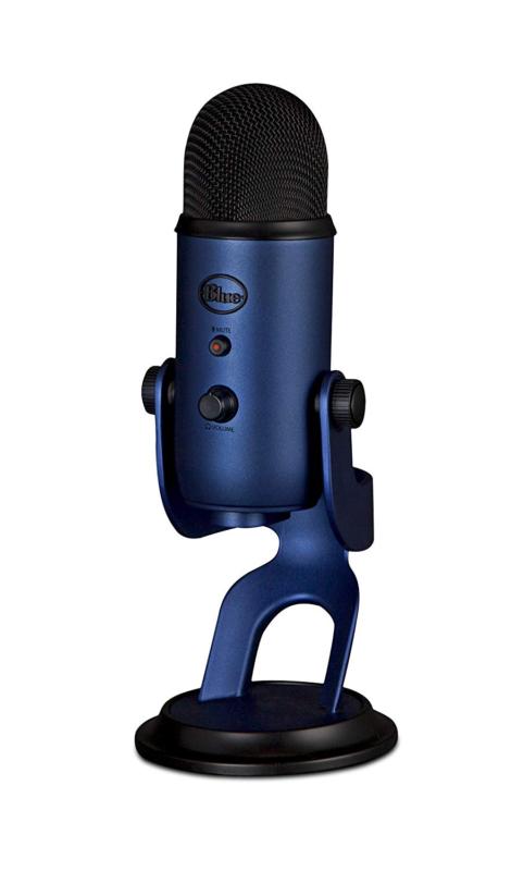 Blue Yeti USB Microphone Tri-Capsule Array Gain Control Mute
