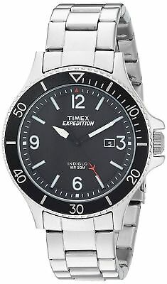 Timex TW4B10900, Men's Expedition Ranger Silvertone Bracelet Watch,Indiglo, Date