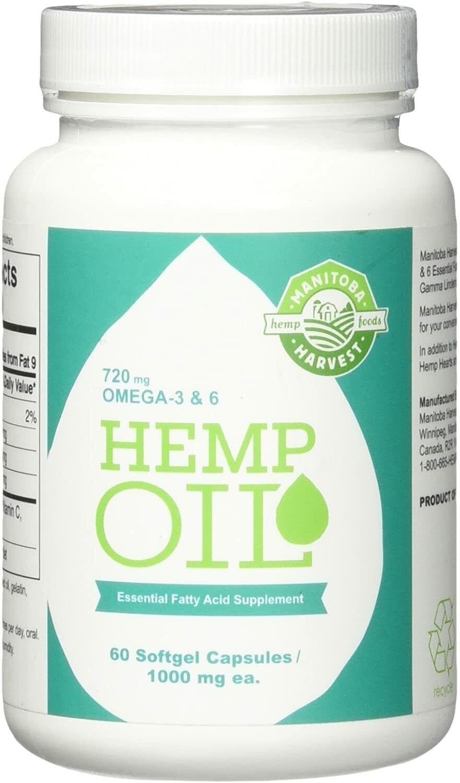 Manitoba Harvest Hemp Oil, 60 Softgel Capsules (Pack of 3) 1