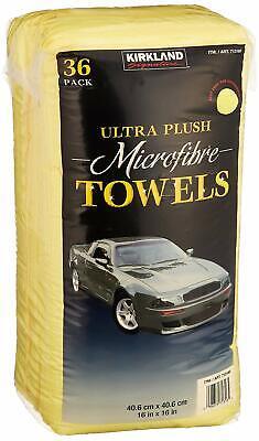 Kirkland Signature Ultra Plush Microfiber Towels 36 Pack for Car or