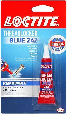 Locktite Thread-locker Blue Bolt Metal Bonder 242 Lock Tight Removable New