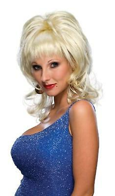 Country Singer Wig Blonde Dolly Parton Fancy Dress Halloween Costume Accessory - Dolly Parton Halloween Wigs