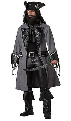Blackbeard the Pirate Adult Costume / Black - Pirat Blackbeard Kostüm