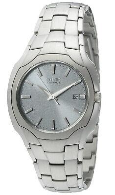 Citizen Eco-Drive Men's Date Calendar Silver-Tone Bracelet 38mm Watch BM6010-55A