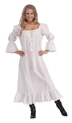 Damen Mittelalter Negligé Nachtwäsche Renaissance Kostüm Kleid Outfit 10-14 (Alte Dame Outfits)