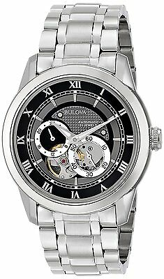 Bulova Men's 96A119 BVA Series Automatic Skeleton Dial Grey Dial 42mm Watch