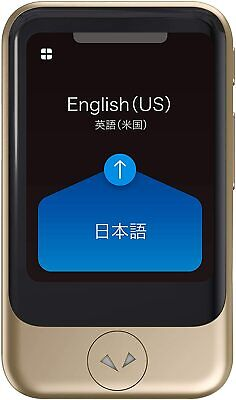 Pocketalk Two-way Voice Translator With Built-in Data And Camera Model S Gold
