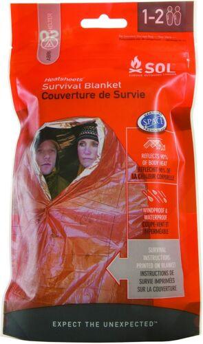 SOL Heat sheets Two Persons Emergency Foil Waterproof Survival Blanket