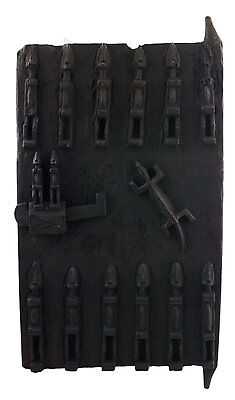 Door Dogon Attic in Mil Mali 71x38 cm - Flap Case - 450w Art African - 1062