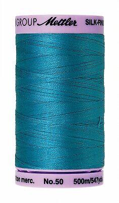 Caribean Blue  Mettler  9104-1394 Cotton Thread 50wt silk finish 547yds