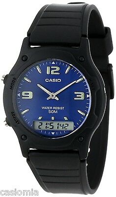 Casio Aw49he 2A Mens Classic Digital Analog Casual Watch 50M Dual Time Alarm