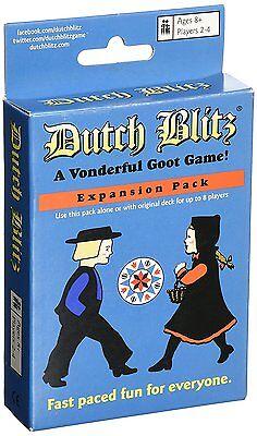 Dutch Blitz Blue Deck Vonderful Goot Family Card Game Party Expansion Pack Dutch Card Game