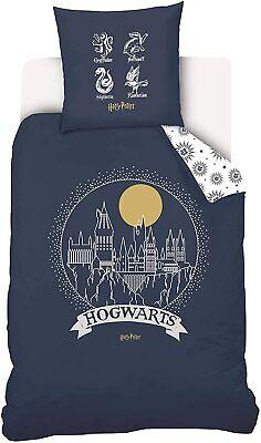 Housse de Couette 140X200 cm + 1 Taie d'Oreiller Harry Potter Hogwarts