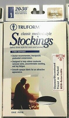Truform 20-30 mmHg Below Knee Unisex Graduated Compression Stockings Beige or