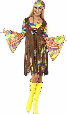 Sexy Women Costume Smiffy's Women's 1960's Groovy Lady Costume - Women's 1960's Groovy Lady Kostüm