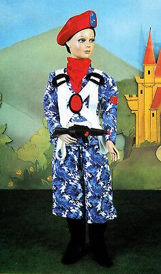 Kostüm von Karneval Kind Pegasus Soldat Fallschirmspringer Gr. 6/9 - Fallschirmspringer Kostüm