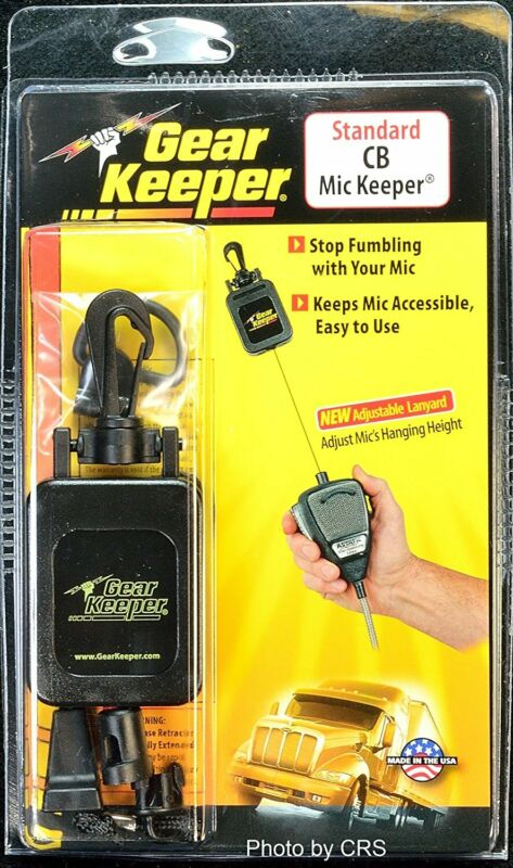 Gear Keeper RT4-4112 Black Retractable CB Radio Microphone Mic Hanger/Holder