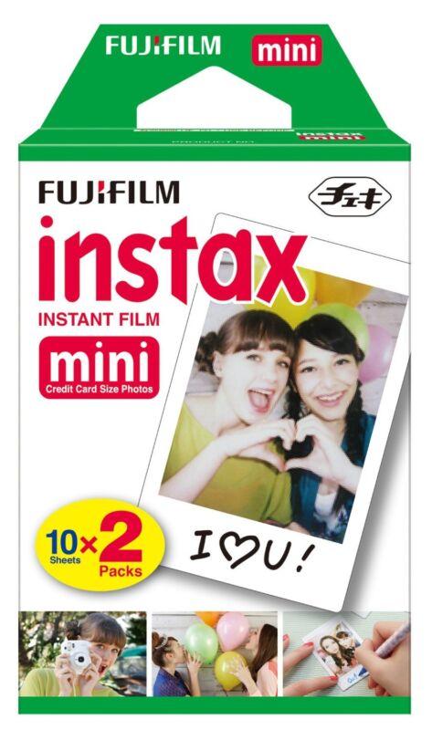20 Sheets Fujifilm Instax Mini Instant Film for Fuji 9 8 7s SP-1 SP-2 & Pol 300