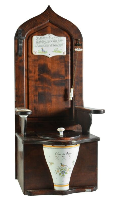 Herbeau 5501 Dagobert Wooden Toilet Throne