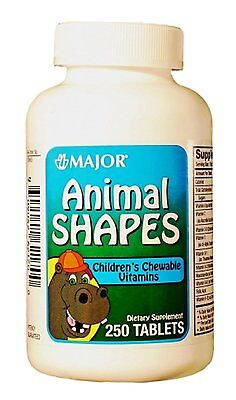 ANIMAL SHAPES CHEW TAB  ASCORBIC ACID-60 MG 250 TABLETS