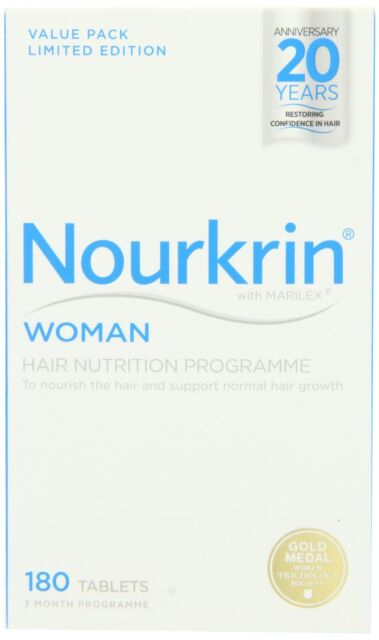 New Nourkrin Woman Extra Strength Hair Nutrition programme 180 tablets 3 months