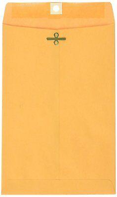 School Smart 6 x 9 Envelopes 100 ct. Brown Clasp Kraft Envelope Mailers #55