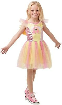 Girls Deluxe Fluttershy My Little Pony Movie Book Day Fancy Dress Costume Outfit (My Little Pony Fluttershy Costume)