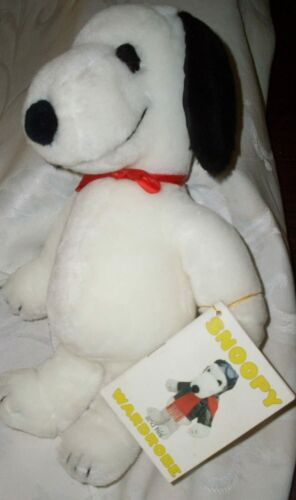 """MINT Original Peanuts Plush 11"""" SNOOPY DOLL by Determined"""