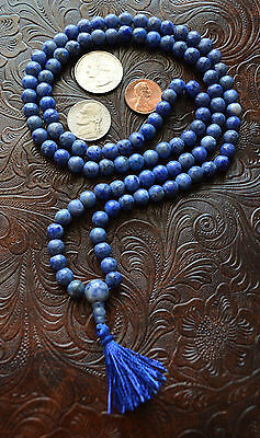 108 Sodalite Handmade 8mm Japa Mala Chant Beads Necklace - Energized