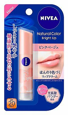 KAO (Japan) Nivea Natural Color Bright Up Lip Balm 3.5g - Pink Beige