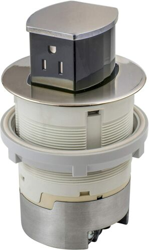 Hubbell RCT201NI 15A 125V Tamper Resistant Pop-Up Countertop Receptacle