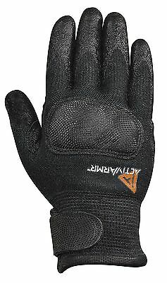 Flame Resistant Gloves - Ansell ActivArmr FR Flame Resistant Black Utility 46 111 Gloves  XLARGE