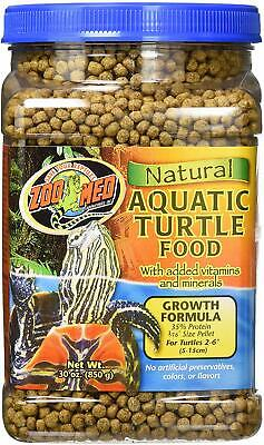 Zoo Med Growth Formula Natural Aquatic Turtle Food net weight 30 oz Natural Aquatic Turtle Food