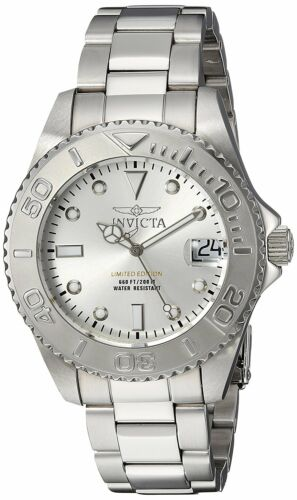 Invicta 24630 Pro Diver Women's 38mm Stainless Steel Silver Dial Watch