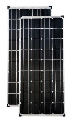 Panel 2 (2 Stück 100 Watt mono Solarpanel Solarmodul Solarzelle Photovoltaik TÜV Zert.)
