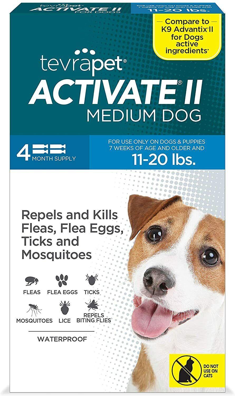 Topico sin pastillas para las pulgas y garrapatas de los perros de 11 a 20 lb