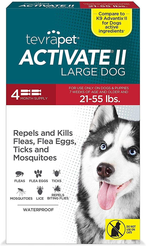 Topico sin pastillas para las pulgas y garrapatas de los perros de 21 a 45 lb