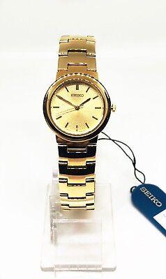 Ladies Seiko Watch, Gold Tone Case, Bracelet & Dial, Analog, SWK464P1