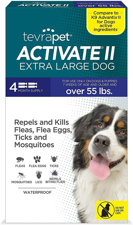 Topico sin pastillas para las pulgas y garrapatas de los perros de 45 a 90 lb