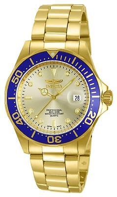Invicta Men's Pro Diver Analogue Quartz Watch with Gold Plated Strap 14124