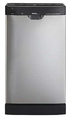 """Danby 18"""" Location Setting Stainless Steel Built In Dishwasher DDW1802EBLS"""