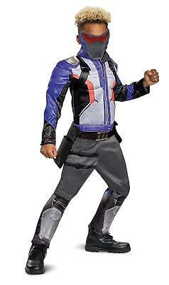 Soldier 76 Classic Muscle Overwatch Fancy Dress Up Halloween Child Costume - Kids Soldier Dress Up