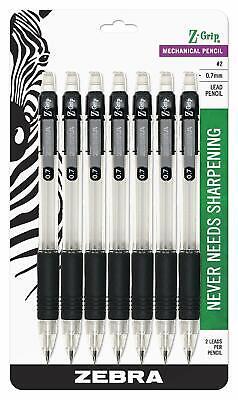 Z-grip Mechanical Pencil 0.7mm Point Size Hb 2 Graphite Black Grip 7-count