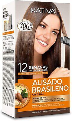 Alisado Brasileño de Keratina y Argán liso perfecto 12 semanas Kativa ,