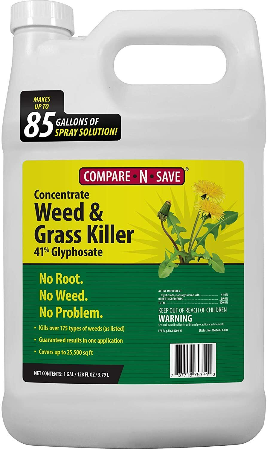 Compare-N-Save 016869 Concentrate Grass And Weed Killer, 41-Percent Glyphosate - $26.49