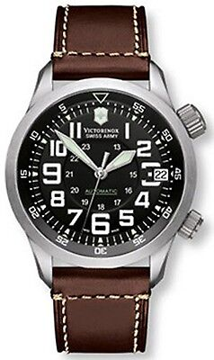 Victorinox Swiss Army Men's PROFESSIONAL AIRBOSS 241378 Brown/Black Leather Swis